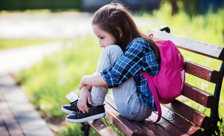 Sad Child Alienated from Her Parent